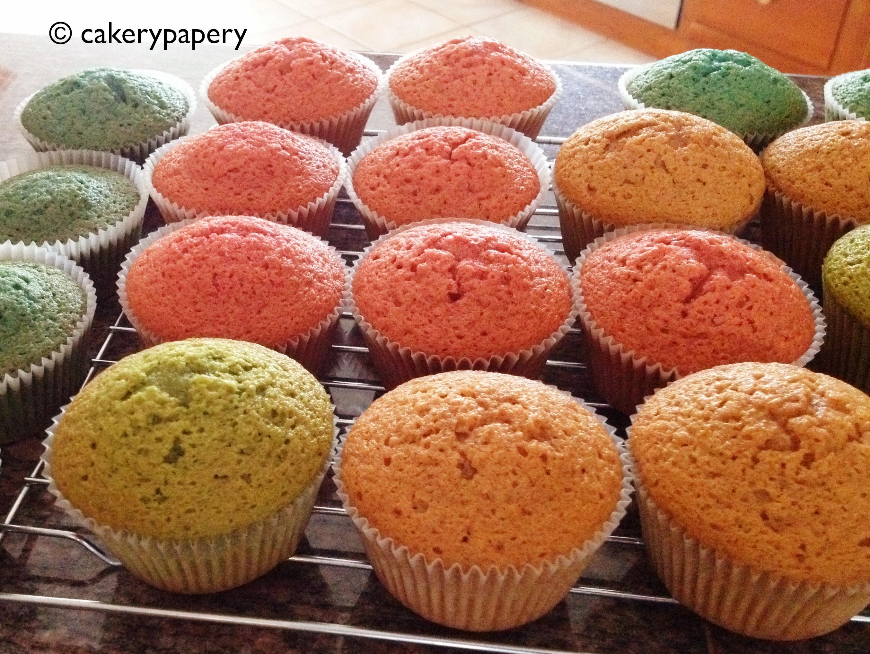 Multi Colored Velvet Cupcakes