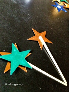 Star Cupcake flag in progress