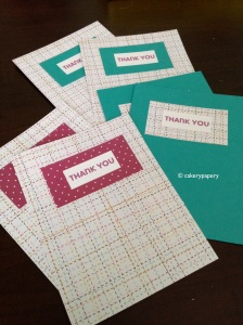 Finished DIY thank you cards