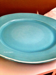 Blue Cake Stand Plate