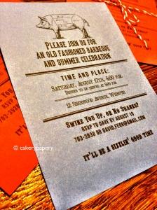 Cakerypapery BBQ invite