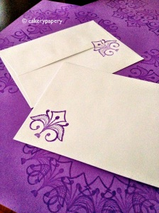 Stamped Purple DIY Notecards