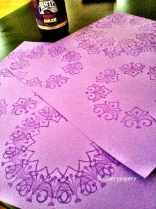 Purple DIY Notecards